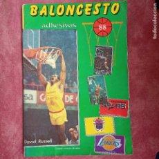 Coleccionismo deportivo: ÁLBUM BALONCESTO 88 CASI COMPLETO FALTAN 9 CROMOS J MERCHANTE. Lote 252655155