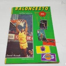 Collezionismo sportivo: ALBUM BALONCESTO 88 NBA CONVERSE J. MERCHANTE CASI COMPLETO SOLO FALTAN 5 CROMOS JORDAN. Lote 254264895