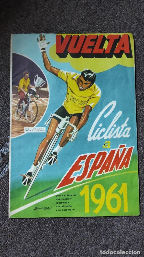 ÁLBUM VUELTA CICLISTA A ESPAÑA 1961 FHER. COMPLETO A FALTA DE 4 (Coleccionismo Deportivo - Álbumes otros Deportes)
