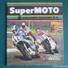 Coleccionismo deportivo: CASI VACIO ALBUM CROMOS SUPER MOTO 1975 VULCANO PANINI SUPERMOTO. Lote 255932055