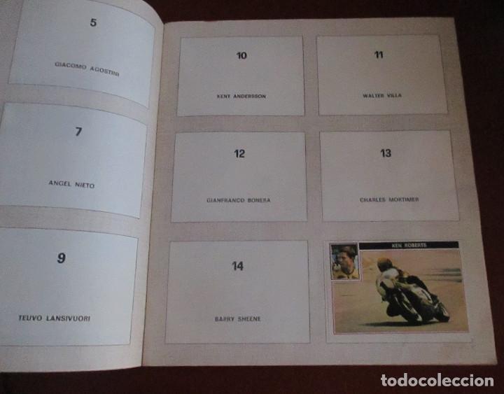 Coleccionismo deportivo: CASI VACIO ALBUM CROMOS SUPER MOTO 1975 VULCANO PANINI SUPERMOTO - Foto 3 - 255932055