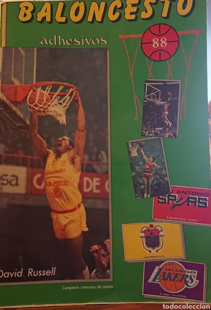 ÁLBUM CROMOS BALONCESTO 88, INCOMPLETO CON DOS CROMOS MICHAEL JORDAN, (Coleccionismo Deportivo - Álbumes otros Deportes)