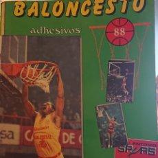 Coleccionismo deportivo: ÁLBUM CROMOS BALONCESTO 88, INCOMPLETO CON DOS CROMOS MICHAEL JORDAN,. Lote 256021855