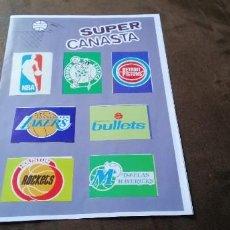 Coleccionismo deportivo: SUPER CANASTA ALBUM FACSÍMIL A FALTA DE 4 STICKERS INCLUYE MICHAEL JORDAN. Lote 257880885