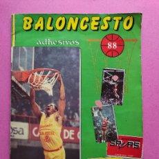 Coleccionismo deportivo: ALBUM BALONCESTO 1988 - CROMOS LIGA ACB 87/88 NBA 2 JORDAN STICKER BASKET - MERCHANTE CONVERSE. Lote 257938260