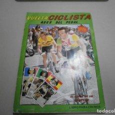 Collezionismo sportivo: ALBUM COMPLETO VUELTA CICLISTA ASES DEL PEDAL AÑO 1987. Lote 259872565