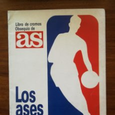 Coleccionismo deportivo: LOS ASES DE LA NBA ALBUM COMPLETO DIARIO AS 1989 CON MICHAEL JORDAN, MAGIC JOHNSON BUEN ESTADO. Lote 260568390