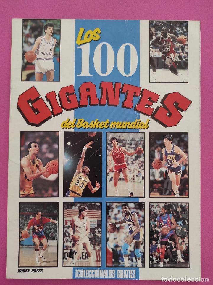 Coleccionismo deportivo: COLECCION COMPLETA SIN PEGAR ALBUM VACIO 100 CROMOS GIGANTES BASKET MUNDIAL 1989 NBA JORDAN STICKERS - Foto 3 - 262929470