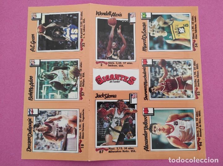 Coleccionismo deportivo: COLECCION COMPLETA SIN PEGAR ALBUM VACIO 100 CROMOS GIGANTES BASKET MUNDIAL 1989 NBA JORDAN STICKERS - Foto 14 - 262929470