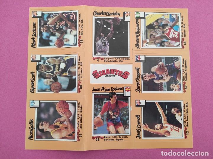 Coleccionismo deportivo: COLECCION COMPLETA SIN PEGAR ALBUM VACIO 100 CROMOS GIGANTES BASKET MUNDIAL 1989 NBA JORDAN STICKERS - Foto 15 - 262929470