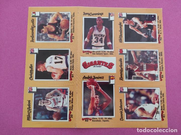Coleccionismo deportivo: COLECCION COMPLETA SIN PEGAR ALBUM VACIO 100 CROMOS GIGANTES BASKET MUNDIAL 1989 NBA JORDAN STICKERS - Foto 16 - 262929470
