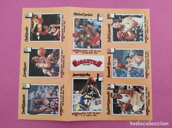 Coleccionismo deportivo: COLECCION COMPLETA SIN PEGAR ALBUM VACIO 100 CROMOS GIGANTES BASKET MUNDIAL 1989 NBA JORDAN STICKERS - Foto 18 - 262929470