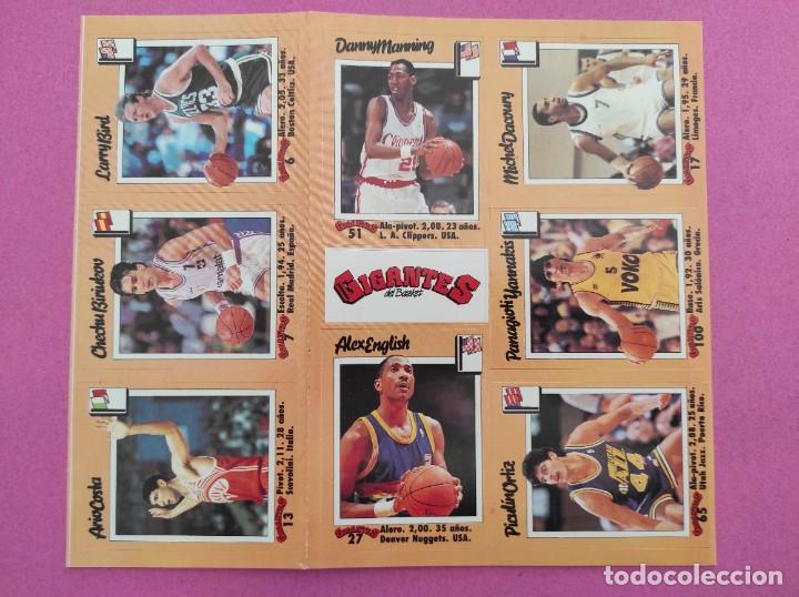 Coleccionismo deportivo: COLECCION COMPLETA SIN PEGAR ALBUM VACIO 100 CROMOS GIGANTES BASKET MUNDIAL 1989 NBA JORDAN STICKERS - Foto 19 - 262929470