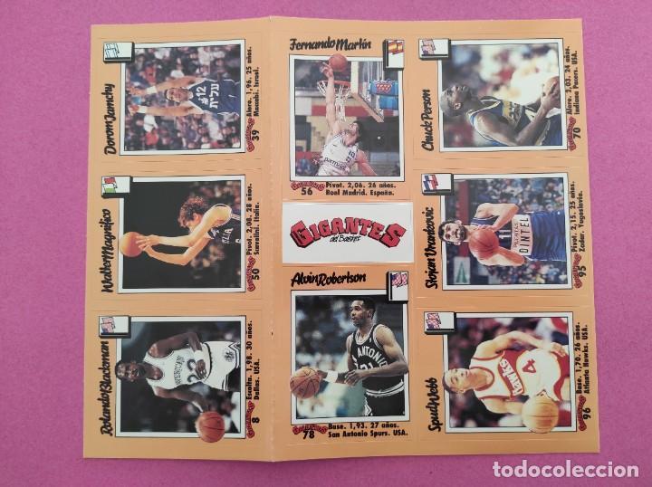 Coleccionismo deportivo: COLECCION COMPLETA SIN PEGAR ALBUM VACIO 100 CROMOS GIGANTES BASKET MUNDIAL 1989 NBA JORDAN STICKERS - Foto 20 - 262929470