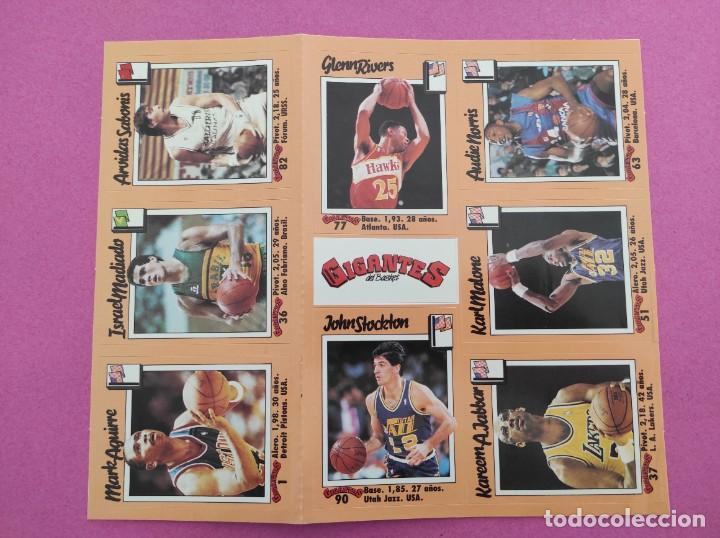 Coleccionismo deportivo: COLECCION COMPLETA SIN PEGAR ALBUM VACIO 100 CROMOS GIGANTES BASKET MUNDIAL 1989 NBA JORDAN STICKERS - Foto 23 - 262929470