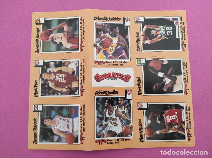 Coleccionismo deportivo: COLECCION COMPLETA SIN PEGAR ALBUM VACIO 100 CROMOS GIGANTES BASKET MUNDIAL 1989 NBA JORDAN STICKERS - Foto 24 - 262929470