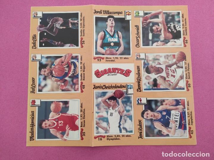 Coleccionismo deportivo: COLECCION COMPLETA SIN PEGAR ALBUM VACIO 100 CROMOS GIGANTES BASKET MUNDIAL 1989 NBA JORDAN STICKERS - Foto 26 - 262929470