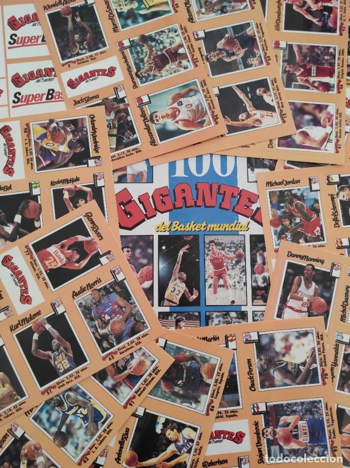 COLECCION COMPLETA SIN PEGAR ALBUM VACIO 100 CROMOS GIGANTES BASKET MUNDIAL 1989 NBA JORDAN STICKERS (Coleccionismo Deportivo - Álbumes otros Deportes)