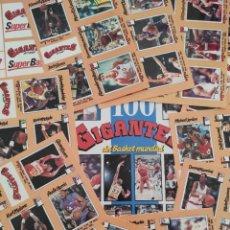 Coleccionismo deportivo: COLECCION COMPLETA SIN PEGAR ALBUM VACIO 100 CROMOS GIGANTES BASKET MUNDIAL 1989 NBA JORDAN STICKERS. Lote 262929470