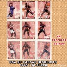 Coleccionismo deportivo: NBA 26 CARTAS FLEER 1993 INTERNACIONALES SET 1 AL 12 NO COMPLETO SE PUEDE FORMAR 4. Lote 262845430