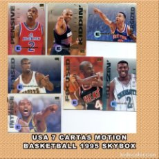 Coleccionismo deportivo: NBA 7 CARTAS MOTION 1995 SKYBOX. Lote 263023010