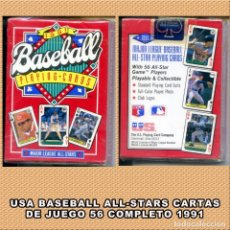 Coleccionismo deportivo: BASEBALL 56 CARTAS DE JUEGO ALL-STAR 1991. Lote 263096075