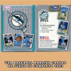 Coleccionismo deportivo: BASEBALL 52 CARTAS DE JUEGO EQUIPO MARLINS 1993. Lote 263096140