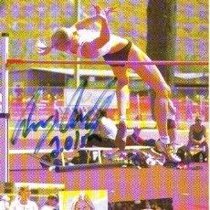 Coleccionismo deportivo: AMY ACUFF (10X15) CM ORIGINAL AUTOGRAHED PHOTO. Lote 263099760