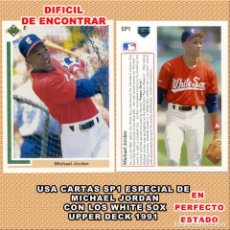 Coleccionismo deportivo: MICHAEL JORDAN CARTA SP1 JUGADOR DE BASEBALL UPPERDECK 1991. Lote 263145980
