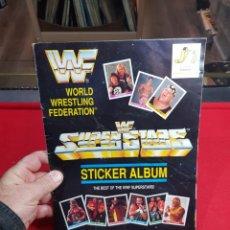 Collezionismo sportivo: ÁLBUM CROMOS LUCHA LIBRE WWF 1991 COMPLETO. Lote 265218309