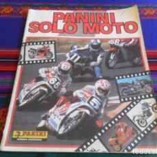 Coleccionismo deportivo: PANINI SOLO MOTO INCOMPLETO CON 119 DE 228 CROMOS. REGALO TODO MOTO INCOMPLETO CROMOS CANO 1983.. Lote 46998184