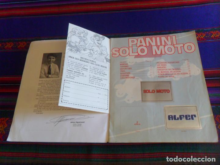 Coleccionismo deportivo: PANINI SOLO MOTO INCOMPLETO CON 119 DE 228 CROMOS. REGALO TODO MOTO INCOMPLETO CROMOS CANO 1983. - Foto 3 - 46998184