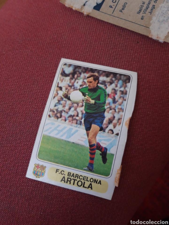 ARTOLA BARCELONA 1977 1978 77 78 DESPEGADO EN ACCION PACOSA 2 (Coleccionismo Deportivo - Álbumes otros Deportes)