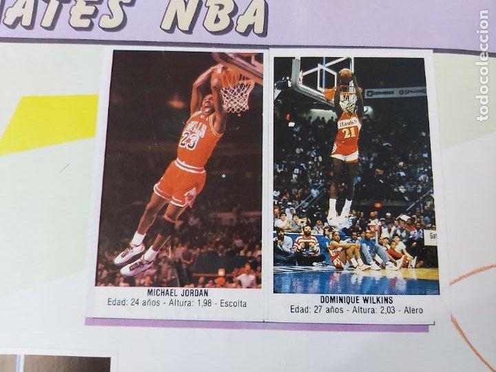 Coleccionismo deportivo: 2 CROMOS JORDAN - ALBUM BALONCESTO 88 NBA CONVERSE J. MERCHANTE FALTAN 23 DE 214 CROMOS - Foto 2 - 267885179
