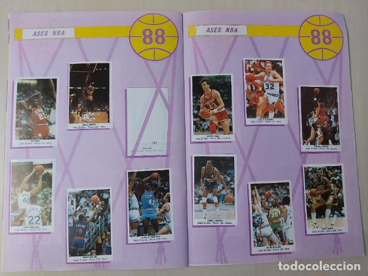Coleccionismo deportivo: 2 CROMOS JORDAN - ALBUM BALONCESTO 88 NBA CONVERSE J. MERCHANTE FALTAN 23 DE 214 CROMOS - Foto 16 - 267885179