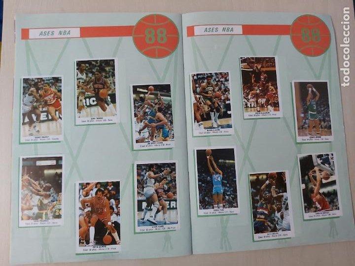 Coleccionismo deportivo: 2 CROMOS JORDAN - ALBUM BALONCESTO 88 NBA CONVERSE J. MERCHANTE FALTAN 23 DE 214 CROMOS - Foto 17 - 267885179