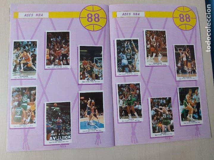 Coleccionismo deportivo: 2 CROMOS JORDAN - ALBUM BALONCESTO 88 NBA CONVERSE J. MERCHANTE FALTAN 23 DE 214 CROMOS - Foto 18 - 267885179