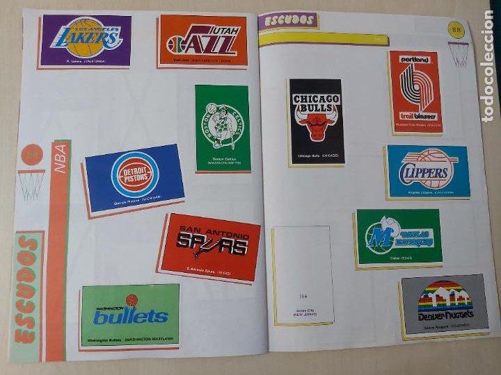 Coleccionismo deportivo: 2 CROMOS JORDAN - ALBUM BALONCESTO 88 NBA CONVERSE J. MERCHANTE FALTAN 23 DE 214 CROMOS - Foto 19 - 267885179