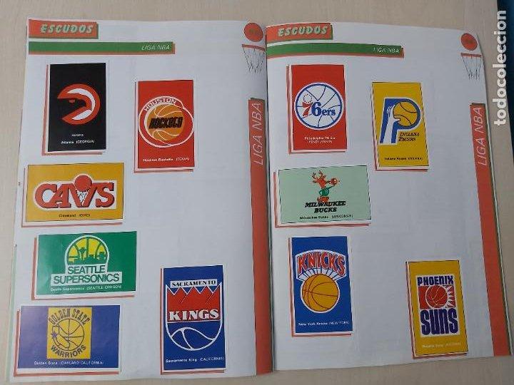 Coleccionismo deportivo: 2 CROMOS JORDAN - ALBUM BALONCESTO 88 NBA CONVERSE J. MERCHANTE FALTAN 23 DE 214 CROMOS - Foto 20 - 267885179