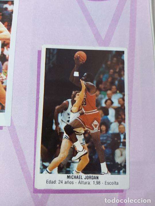 2 CROMOS JORDAN - ALBUM BALONCESTO 88 NBA CONVERSE J. MERCHANTE FALTAN 23 DE 214 CROMOS (Coleccionismo Deportivo - Álbumes otros Deportes)