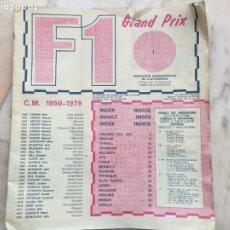 Coleccionismo deportivo: F1 GRANDPRIX POCOS CROMOS. Lote 270225113