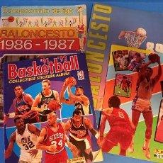 Coleccionismo deportivo: LOTE ALBUMES BALONCESTO 1986-1987+REGALO. Lote 270627428