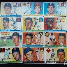 Coleccionismo deportivo: LOTE DE 30 CROMOS DE BEISBOL, BASEBALL, AMERICANOS, AÑOS 50. Lote 272964593