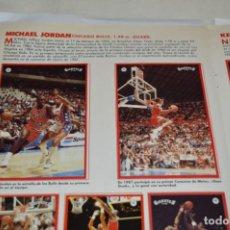 Coleccionismo deportivo: COMPLETO GIGANTES DE LA NBA - BASKET / BALONCESTO - AÑOS 80 / NBA MICHAEL JORDAN STICKERS ¡DIFÍCIL!. Lote 273625373