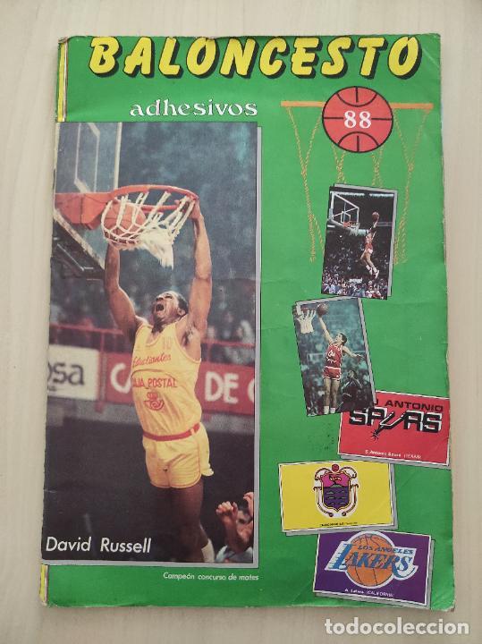 ALBUM COMPLETO BALONCESTO 1988 CROMOS LIGA ACB 87/88 NBA 2 JORDAN STICKER BASKET MERCHANTE CONVERSE (Coleccionismo Deportivo - Álbumes otros Deportes)