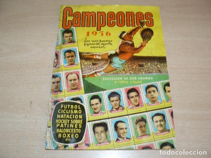 ALBUM DE CROMOS ORIGINAL CAMPEONES 1956 BRUGUERA FUTBOL CICLISMO BALONCESTO BOXEO MUY DIFICIL!!!!!!! (Coleccionismo Deportivo - Álbumes otros Deportes)