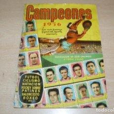 Coleccionismo deportivo: ALBUM DE CROMOS ORIGINAL CAMPEONES 1956 BRUGUERA FUTBOL CICLISMO BALONCESTO BOXEO MUY DIFICIL!!!!!!!. Lote 273743233