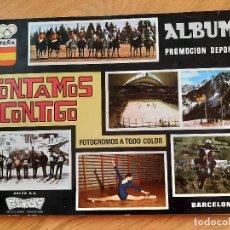 Coleccionismo deportivo: ALBUM *CONTAMOS CONTIGO* - EDIT. COLED 1968, CON 145 CROMOS PEGADOS. Lote 273899458