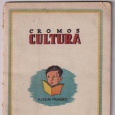 Coleccionismo deportivo: CROMOS CULTURA. ÁLBUM PRIMERO. BRUGUERA 1942. CONTIENE 70 CROMOS DE FUTBOL (DE ELLOS 7 GRANDES) + 4. Lote 277008463