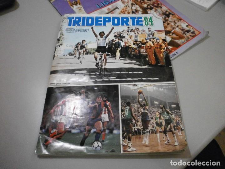 ALBUM COMPLETO TRIDEPORTE 84 FOTOS DE TODAS LAS HOJAS CICLISMO FUTBOL Y BALONCESTO (Coleccionismo Deportivo - Álbumes otros Deportes)
